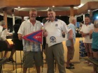 ACYC Commodore Grenville Fordham and Changi Sailing Club Paul Kendall exchange burgees