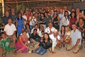 Part of the local Phuket community that came together last night at the club  to farewell their friend Adam Tepper
